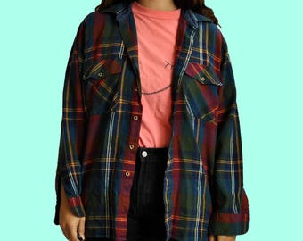 90s Check Me Flannel OSFM