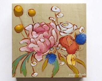 Original painting modern flower bouquet wall art  - A Bouquet for Whitney