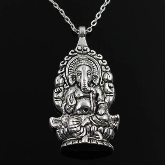 GANESH NECKLACE - Vintage Jewellery - Vintage Necklace - Indian - Spiritual Jewelry - Ganesha - Buddha - Buddha Necklace - Gift - Yoga