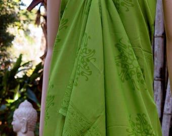Green Sarong, Swimsuit cover up, Beach Sarong, Pareo