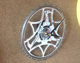 Recycled Bicycle Gear Cog made into a Clock