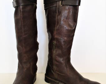 Tall Boots for Women | Vintage 90s Frye, Tall Boots Women, Leather Boots, Knee High, High Boots for Women, Riding Boots, Brown Leather