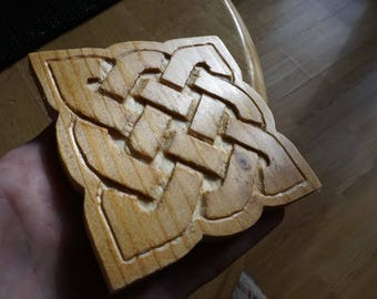Hand-Carved Celtic Knot Coasters