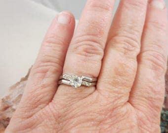 Wedding Bridal CZ Sterling Silver Set