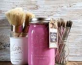 Handmade Chalk Paint, Pink, Ice Cream Party, Pink Furniture, Hand Painted, Girl Nursery Decor, Painted Furniture, Painted Shelf, Wood Shelf