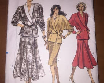 Vogue Sewing Pattern 9967 Misses Top and Skirt Size 16