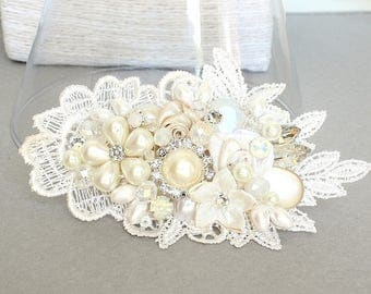 Ivory Bridal Comb- Ivory Bridal Hairpiece- Bridal Hair Accessories- Bridal Hair Comb- Wedding Hairpiece- Bridal Comb- Ivory Hairpiece