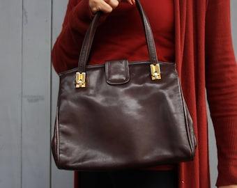 Brown Handbag, brown Leather Bag, Kelly bag leather Purse, Kellybag, soft leather bag, leather tote, shoulder bag, womens bag, shoulder bag