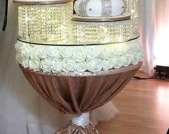 Chandelier crystal acrylic cake stands cascading style     1 to 6 tiers - Premium glass crystal