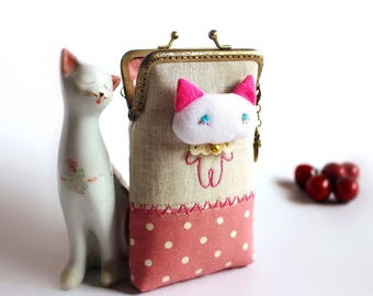 Cat cell phone case, iPhone case, Gadget case