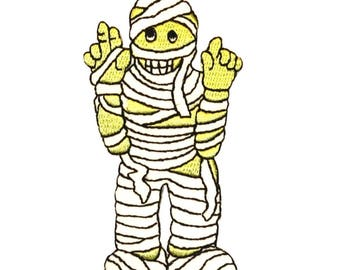 ID 0890 Mummy Costume Patch Halloween Kid Wraps Embroidered Iron On Applique