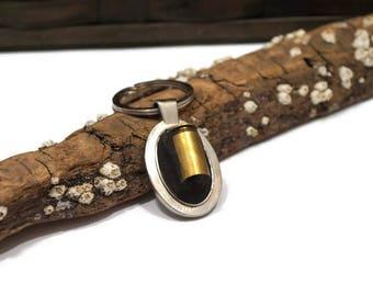 Gun Shell Mosaic Key Chain