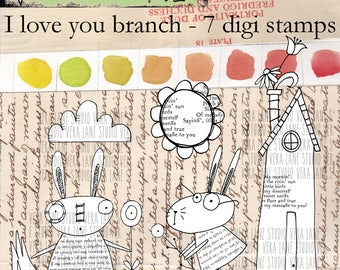 I Love You Branch - 7 digi image bundle in png files