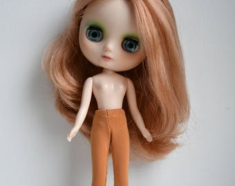 Little mustard yellow / ochre tights for Lati Yellow or Pukifee dolls