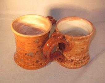 Handmade Ceramic Spotted Marbled Mugs