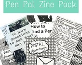 Pen Holder Pal Zine Pack: Happy Mail organizer Zines for Pen Pals, Letter Writers, Postal Freaks, Snail Mail Afficionados, Creative People