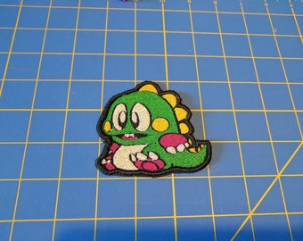 Bub from Bubble Bobble embroidered patch