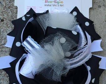 Black And White Bubble Bow