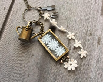 Gardening Necklace/Long Necklace/Boho Jewelry