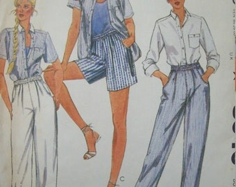 "Shirt, Pants and Shorts Vintage 1980s ""Van-Martin"" McCall's Pattern 8040 Size 10 Uncut Factory Fold"