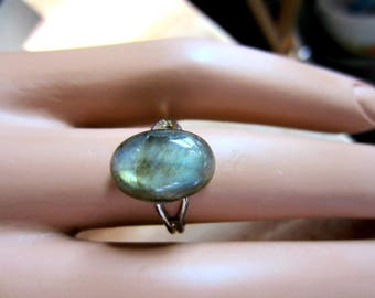 Selective Ring Sale, Labradorite Ring, Solitaire Ring, Gemstone