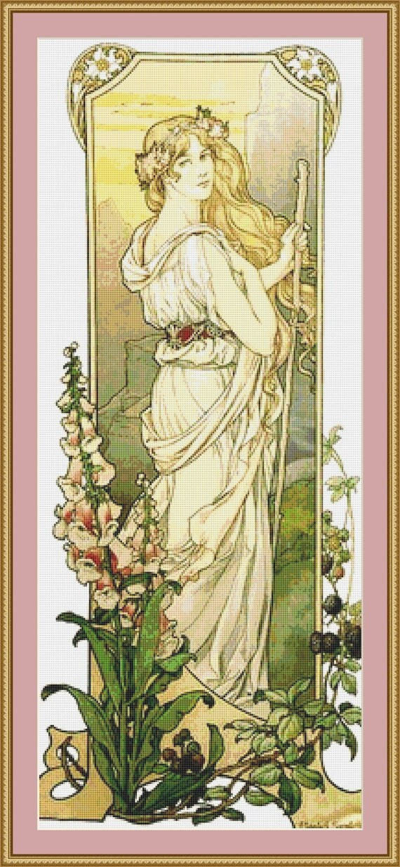 Fleurs Des Montagne Cross Stitch Pattern - Instant Downlad / Digital PDF Files