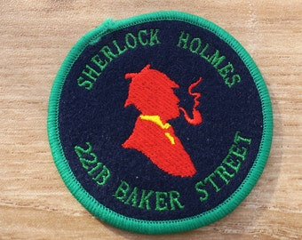 Vintage Embroidered Sherlock Holmes Patch