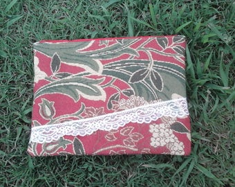 Handmade zipper bag, cosmetic bag, ladies pouch, clutch, upholstery fabrics, festival bag, handmade gift, teen cosmetic bag, zipper bag