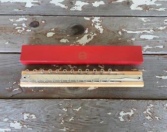 HICKOK TIE RACK Vintage Tie Rack,Wooden Tie Rack,Tie Rack With Box