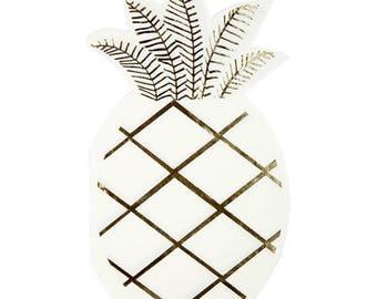 Pineapple Napkins- Party Decor, Meri Meri - Tropical - Fruit - Tableware - Spring - Summer, Pastel, Gold, Birthday, Children's Parties
