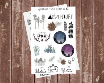2-Pack Forest Nights Sticker Collection for Journal and Planner