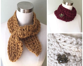 Neckerchief Scarf / Wrap Scarf / Crochet Scarf / Octopus Scarf