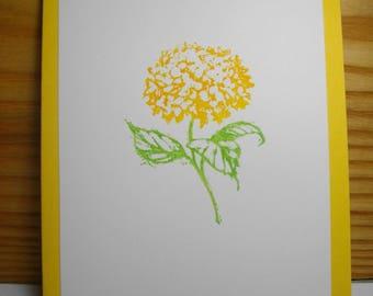 Hydrangea (hand-stamped) 8-Card Box