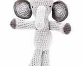 Elephant - Amigurumi Stuffed Animal, 11 inches tall