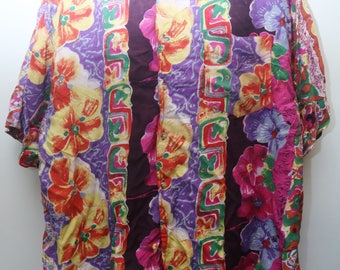 "Rare 90's Vintage ""UNIONBAY"" Abstract Patterned Short-Sleeve Colorful Funky Shirt Sz: X-LARGE (Men's Exclusive)"