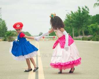 Super Mario Brother Inspired Tutu Dress Costume. Great for a Halloween costume, Themed Party, Dance Recital