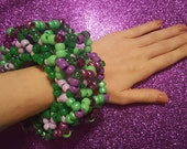 Violet & vert - UFO Kandi brassard 3D - EDM - Rave