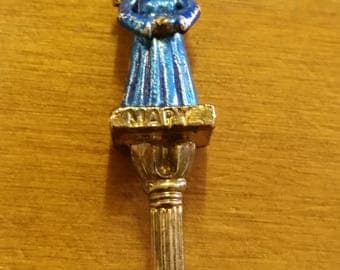 Vintage Enamelled Mary Souvenir Spoon