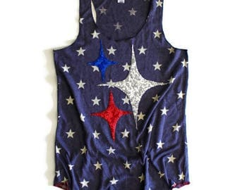 Sequin Star Tank Top. 4th of July Tank. Sequin Chevron. Stars and Stripes. Fourth of July Shirt. Fireworks and Sparkle. USA Tank. July 4th