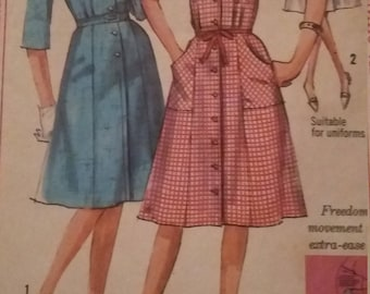 Vintage Simplicity 5752 Sewing Pattern Size 18 Bust 38 One-Piece Dress
