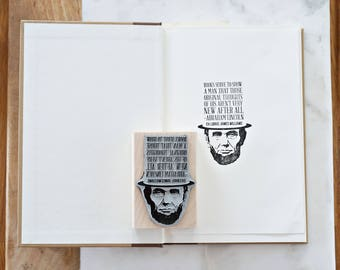 Abraham Lincoln Bookplate Stamp –Personalized Gift