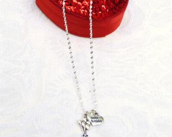 Happy Birthday  Necklace / women's jewelry / jewelry / teen jewelry / girls jewelry / women / Birthday