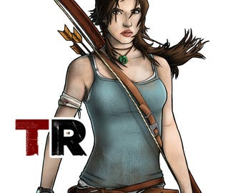 Bookmark TOMB RAIDER Lara Croft Game/Movie