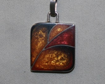 Polish Modernist Amber Sterling Necklace