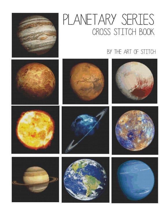 Cross Stitch Pattern PRINTED Set Planetary Series - Space Cross Stitch (BOOK03)