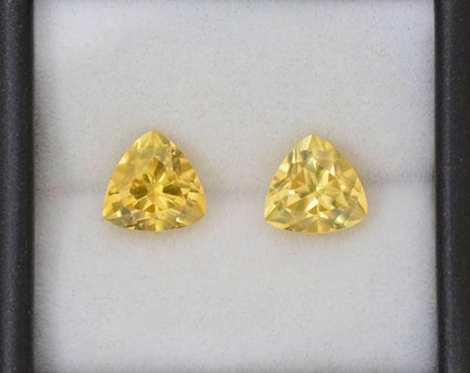 UPRISING SALE! Fantastic Yellow Scheelite Gemstone Match Pair from China 6.65 tcw.