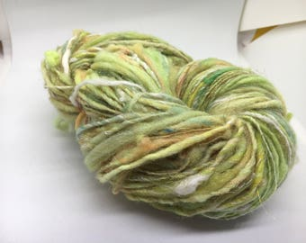 Hand Spun & Dyed Mixed Fiber Art Yarn