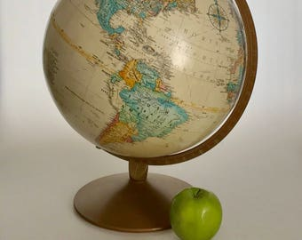 Vintage replogle globe Lee Roy M Tolman chief cartographer