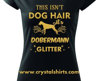 Dobermann glitter T-shirt
