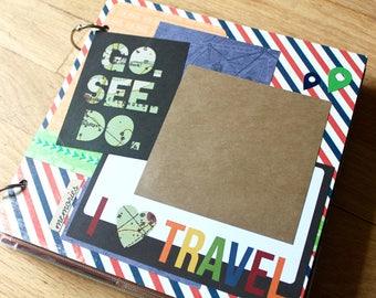 Travel Scrapbook, Vacation Scrapbook, Adventure Scrapbook, Vacation, Interactive Scrapbook, Travel Memory Scrapbook, 8 x 8 Photo Album